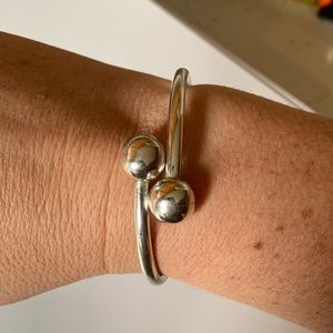 Jewelry - Sterling Silver 925 Double Ball Hinged Bracelet